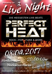 Perfect Heat heizt am 8.4. im Musikerheim in Neckarwestheim ein