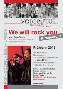 'Voiceful the choir' Kirchentour 'We will rock you', Neuhütten ev. Kirche