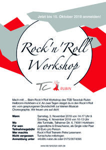 Rock'n'Roll Workshop des TC Rubin