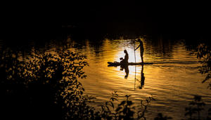 Stand-up-Paddling am Breitenauer See