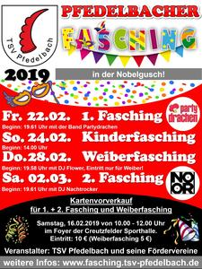 1. Pfedelbacher Fasching am 22.02.2019
