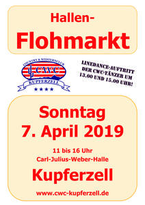 Hallen-Flohmarkt am 7 April in Kupferzell
