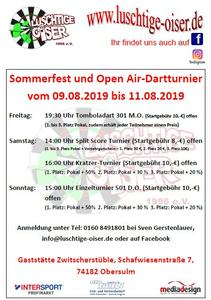 Open Air Dartturnier 2019