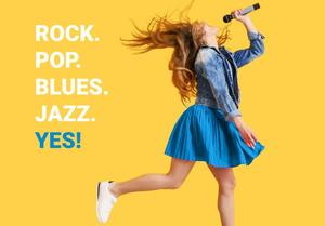 ROCK. POP. BLUES. JAZZ. YES!