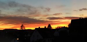 Abendrot in Willsbach