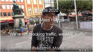 Film: Critical Mass Heilbronn 'We're not blocking traffic, we ARE traffic' - (geschlossener Verband gem. § 27 StVO)