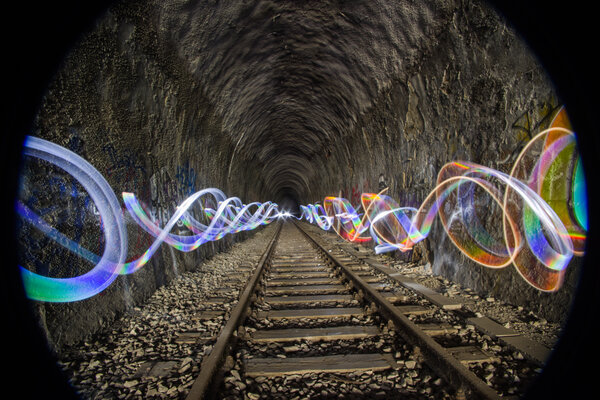 heilbronn, lightpainting, tunnel, lerchenbergtunnel